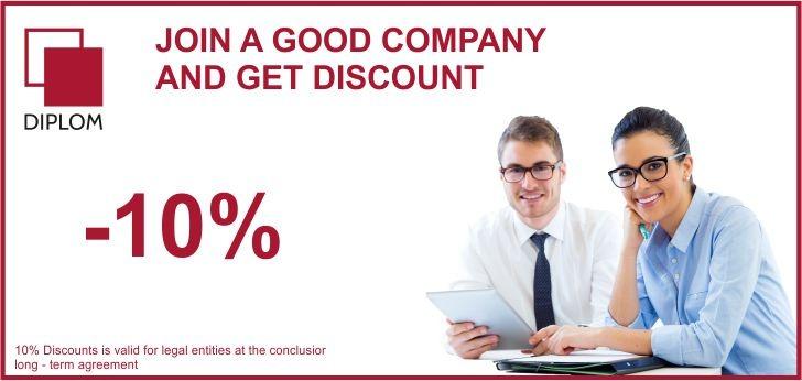 Discount for legal entities Diplom   Translation agency in Moldova